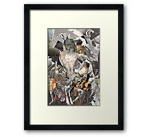 Wounded Soldier on a Battlefield. Framed Print