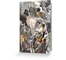 Wounded Soldier on a Battlefield. Greeting Card