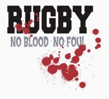 "Rugby ""No Blood No Fowl"" Kids Clothes"