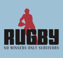 """Rugby """"No Winners Only Suvivors"""" Kids Clothes"""