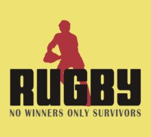 "Rugby ""No Winners Only Suvivors"" One Piece - Short Sleeve"