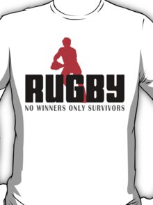 "Rugby ""No Winners Only Suvivors"" T-Shirt"
