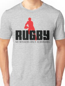 """Rugby """"No Winners Only Suvivors"""" Unisex T-Shirt"""