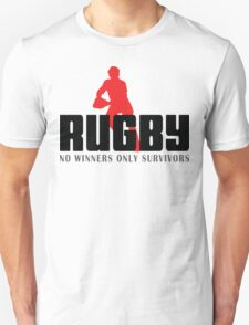 """Rugby """"No Winners Only Suvivors"""" T-Shirt"""