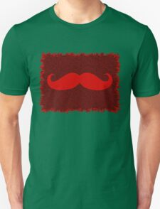Red Mustache on leopard skin T-Shirt