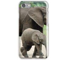 SIDE BY SIDE - THE AFRICAN ELEPHANT – Loxodonta Africana - Afrika Olifant iPhone Case/Skin