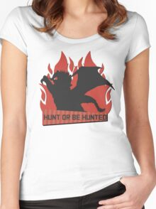 Monster Hunter - Hunt or be Hunted (Teostra) Women's Fitted Scoop T-Shirt