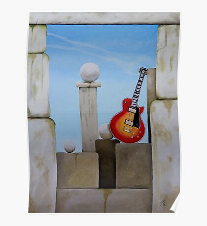 Rock Guitar Les Paul Poster