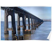 Tay  Rail Bridge , Dundee, Scotland. Poster