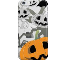 Pumpkins in the forest iPhone Case/Skin