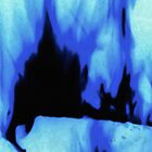Black and Blue Fire by MSRowe Art and Design