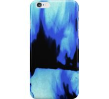 Black and Blue Fire iPhone Case/Skin