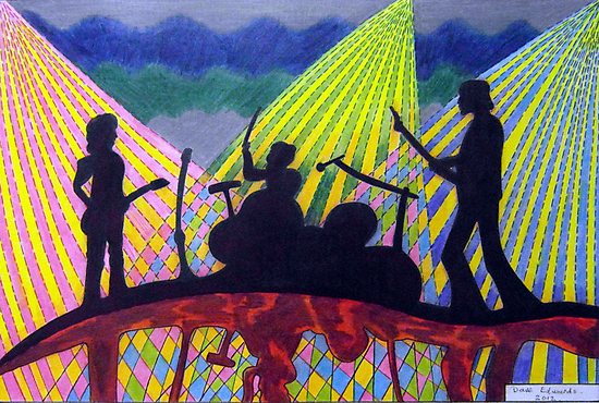 369 - ROCK BAND - DAVE EDWARDS - COLOURED PENCILS - 2012 by BLYTHART