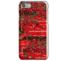 Red Paper Collage iPhone Case/Skin
