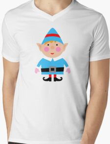 Mr blue Elf Mens V-Neck T-Shirt