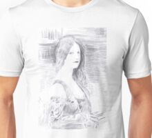 To the Return of Times Lost - from a Carbon Paper Trace Monotype after Charles Amable Lenoir. Unisex T-Shirt