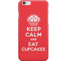 Keep Calm and Eat Cupcakes  red 3G  4G  4s iPhone case  iPhone Case/Skin