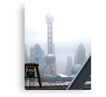 Oriental Pearl Tower Under Fog Canvas Print