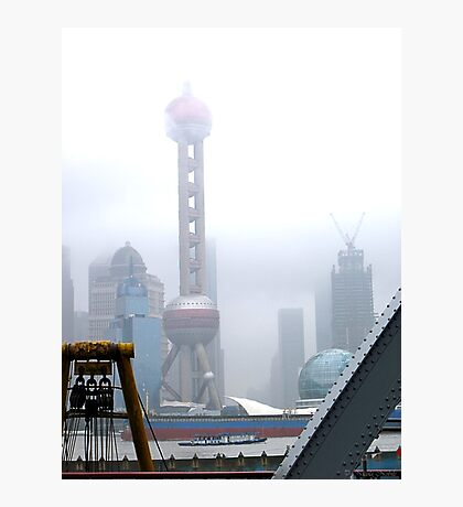 Oriental Pearl Tower Under Fog Photographic Print