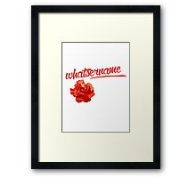 Whatsername Framed Print