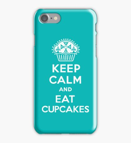 Keep Calm and Eat Cupcakes  turquoise 3G  4G  4s iPhone case  iPhone Case/Skin
