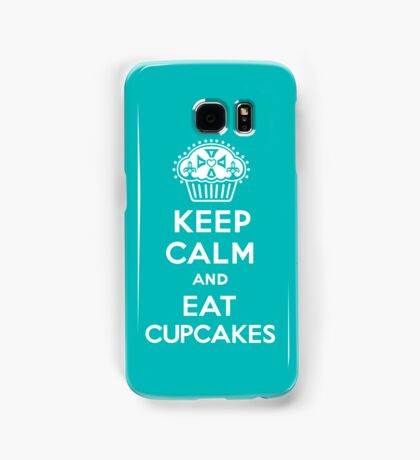Keep Calm and Eat Cupcakes  turquoise 3G  4G  4s iPhone case  Samsung Galaxy Case/Skin