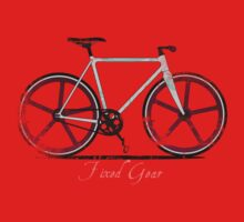 Fixed Gear White Bicycle Kids Clothes