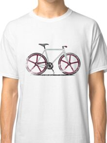 Fixed Gear White Bicycle Classic T-Shirt
