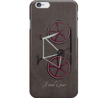 Fixed Gear White Bicycle iPhone Case/Skin