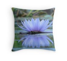 Beautiful Reflections of A Water Lily Throw Pillow