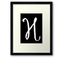 The Letter H Framed Print