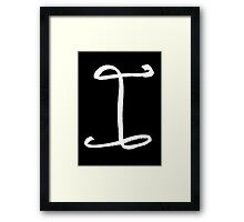 The Letter I Framed Print