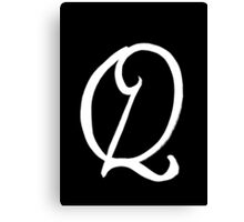 The Letter Q Canvas Print