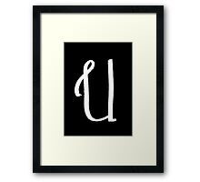 The Letter U Framed Print