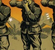 Murder In Cold Blood -- WW2 Propaganda Sticker