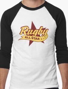 Retro Rugby Men's Baseball ¾ T-Shirt