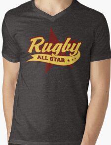 Retro Rugby Mens V-Neck T-Shirt
