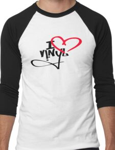 I LOVE VINYL Men's Baseball ¾ T-Shirt