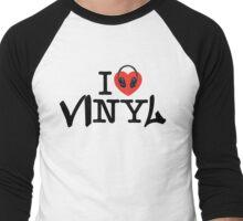 I LOVE viNYl Men's Baseball ¾ T-Shirt