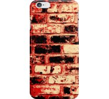 Fire brick wall  iPhone Case/Skin