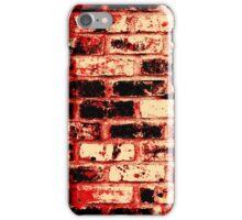 Fire brick wall  iPhone Case/Skin