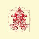 Vitruvian Dragon Zord by rabzila