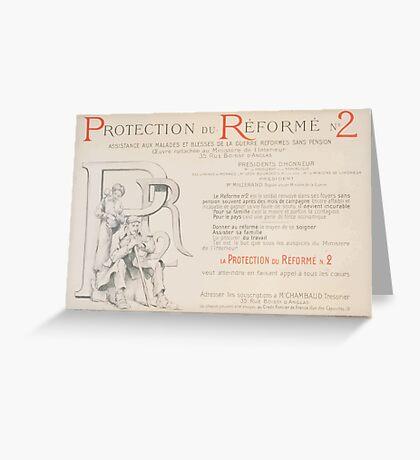 Protection du réformé no 2 Assistance aux malades et blessés de la guerre réformés sans pension Crédit Foncier de France Greeting Card