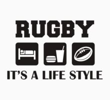 Sleep Eat Rugby by SportsT-Shirts