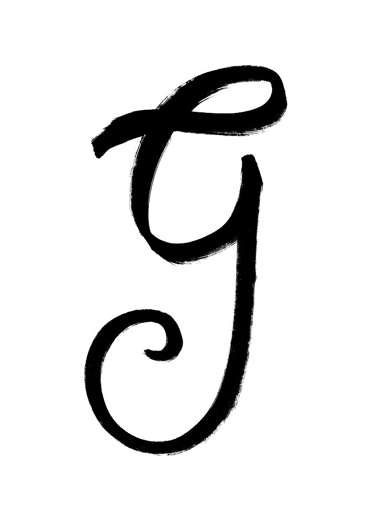 The Letter G by alphabeautiful