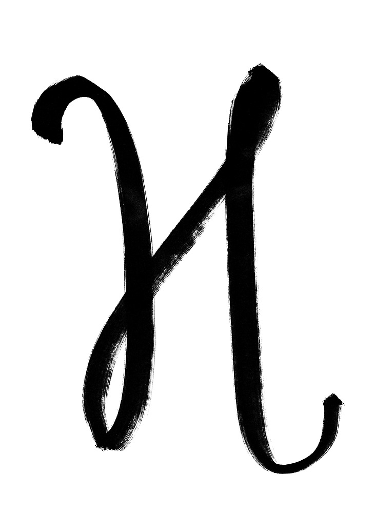 The Letter H by alphabeautiful