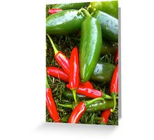 Spicy Chili's  Greeting Card