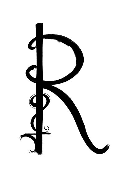The Letter R by alphabeautiful