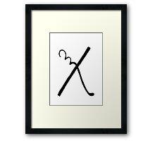 The Letter X Framed Print