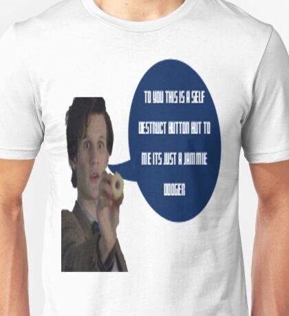 Doctor Who Jammie Dodger Self Destruct Button Unisex T-Shirt